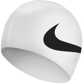 Nike Swim Big Swoosh Printed Siliconen Badmuts, zwart